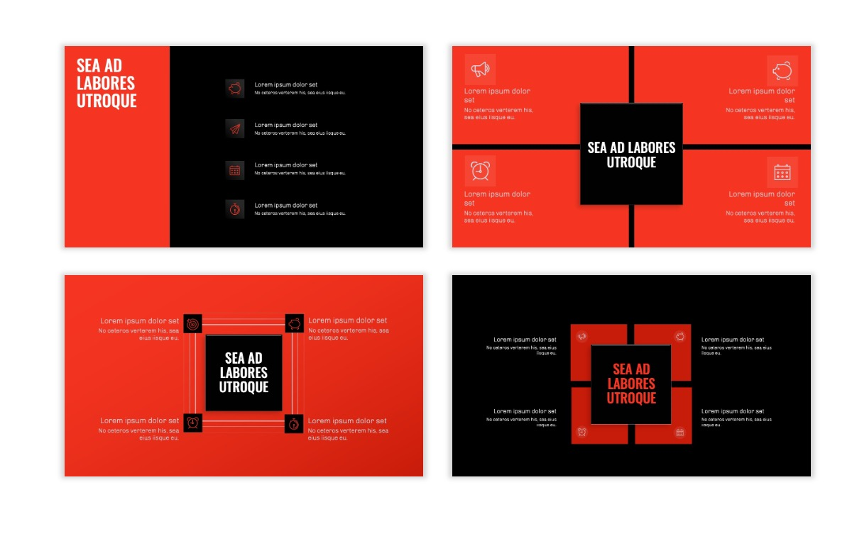 OSLO - Minimal - Dark Red - Business - Professional - Aesthetic - Clean - Minimal Slide16