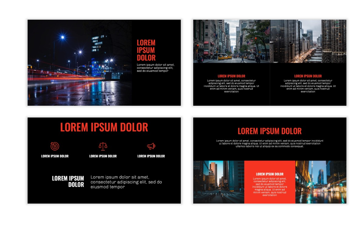 OSLO - Minimal - Dark Red - Business - Professional - Aesthetic - Clean - Minimal Slide6