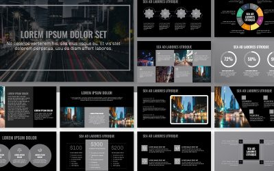 OSLO PROFESSIONAL DARK SILVER FREE POWERPOINT TEMPLATE