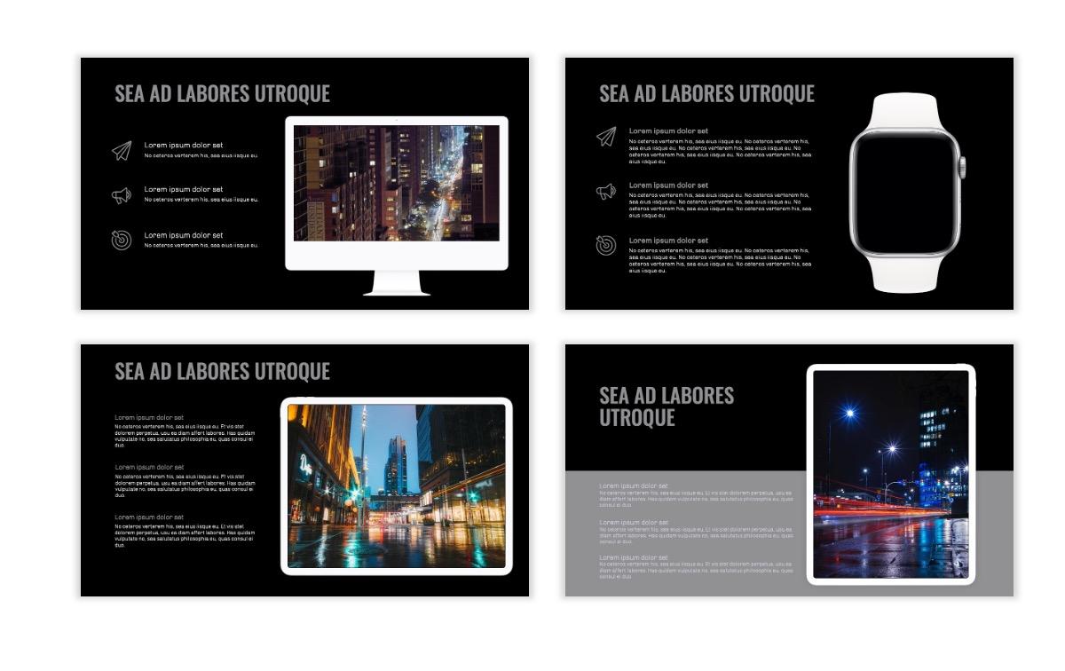 OSLO - Minimal - Dark Silver - Business - Professional - Aesthetic - Clean - Minimal Slide10