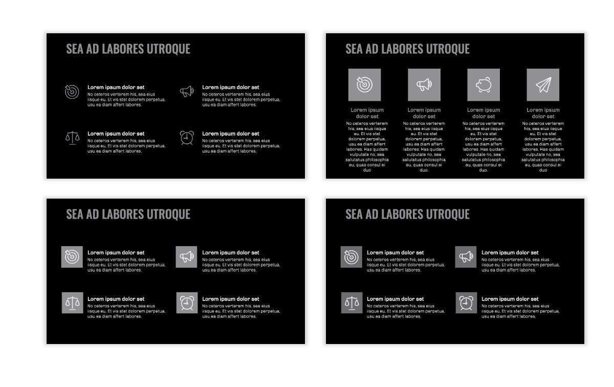 OSLO - Minimal - Dark Silver - Business - Professional - Aesthetic - Clean - Minimal Slide11