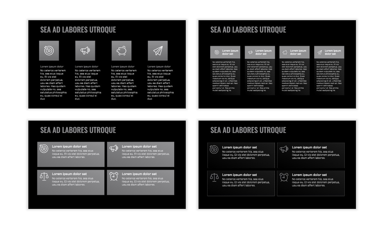 OSLO - Minimal - Dark Silver - Business - Professional - Aesthetic - Clean - Minimal Slide12