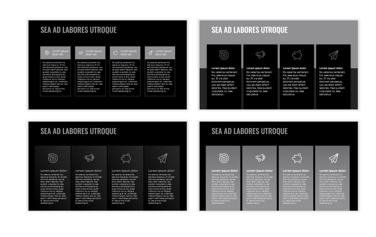 OSLO - Minimal - Dark Silver - Business - Professional - Aesthetic - Clean - Minimal Slide13