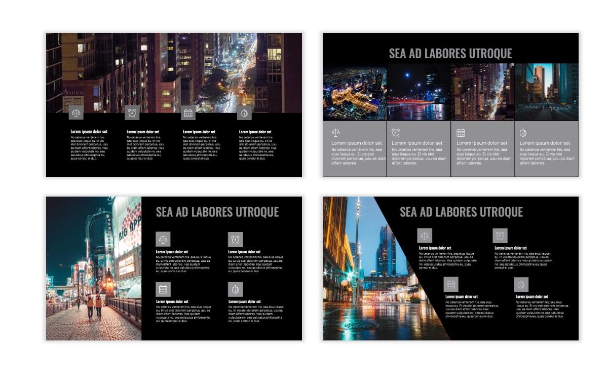 OSLO - Minimal - Dark Silver - Business - Professional - Aesthetic - Clean - Minimal Slide14