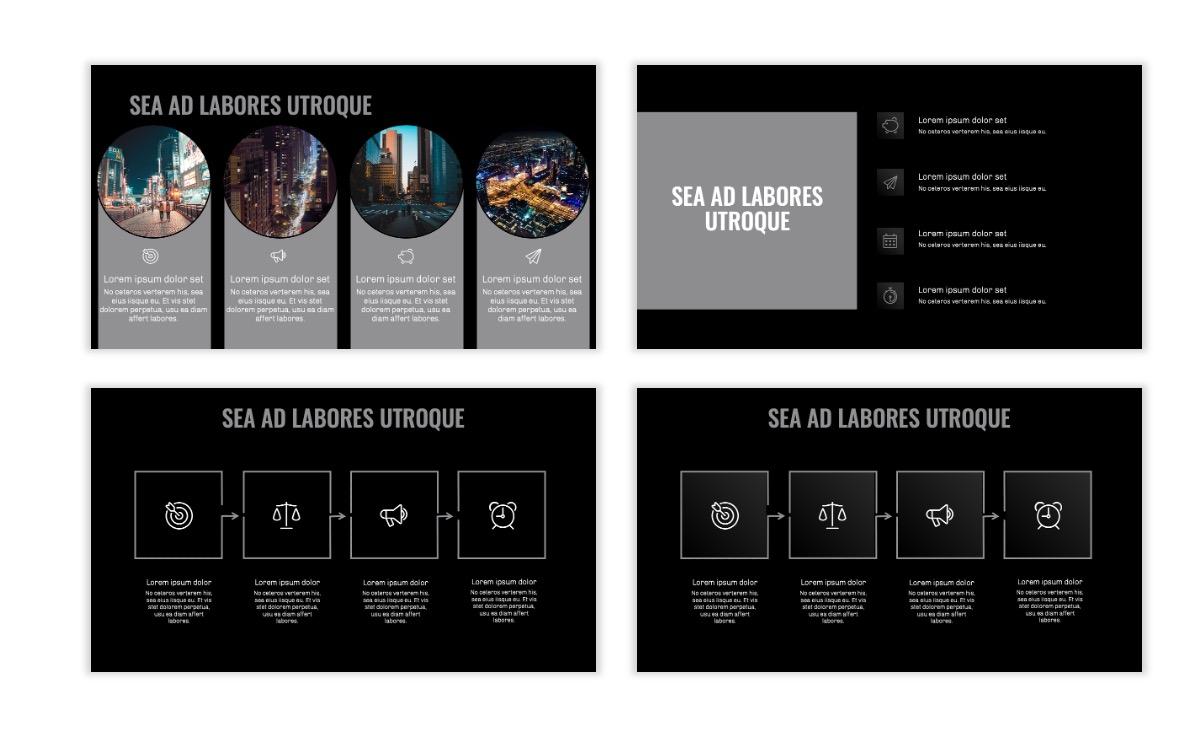 OSLO - Minimal - Dark Silver - Business - Professional - Aesthetic - Clean - Minimal Slide15