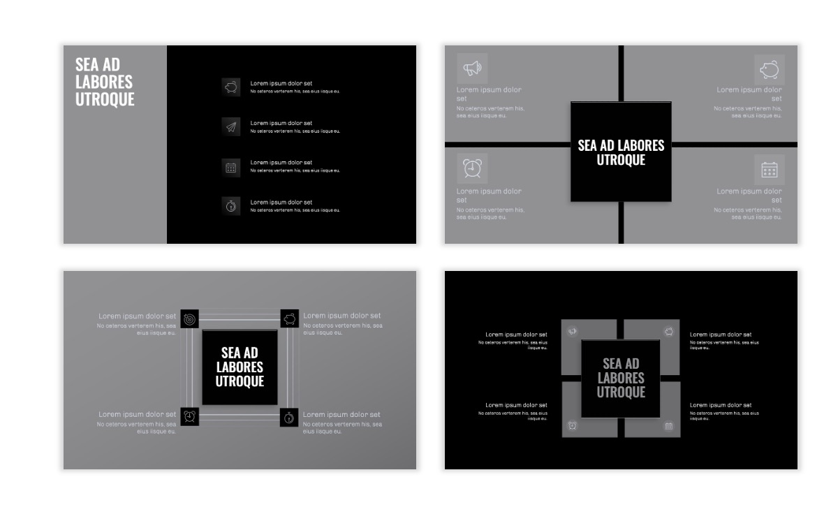 OSLO - Minimal - Dark Silver - Business - Professional - Aesthetic - Clean - Minimal Slide16
