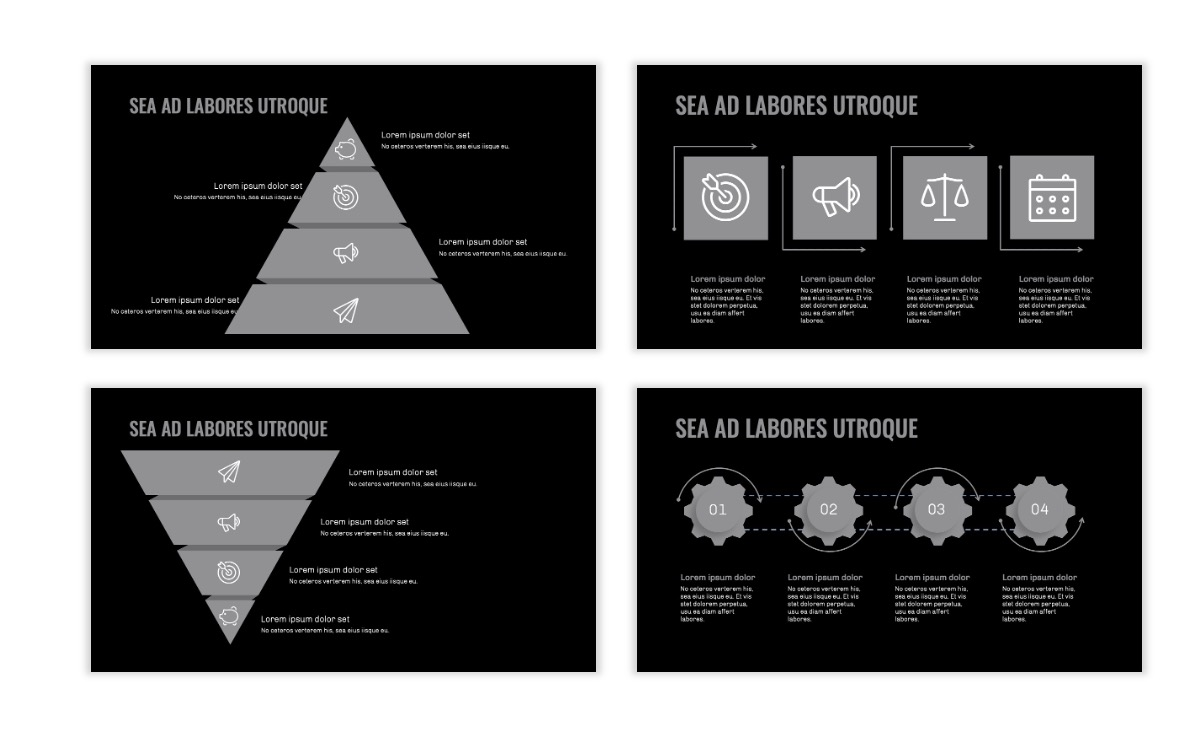 OSLO - Minimal - Dark Silver - Business - Professional - Aesthetic - Clean - Minimal Slide17