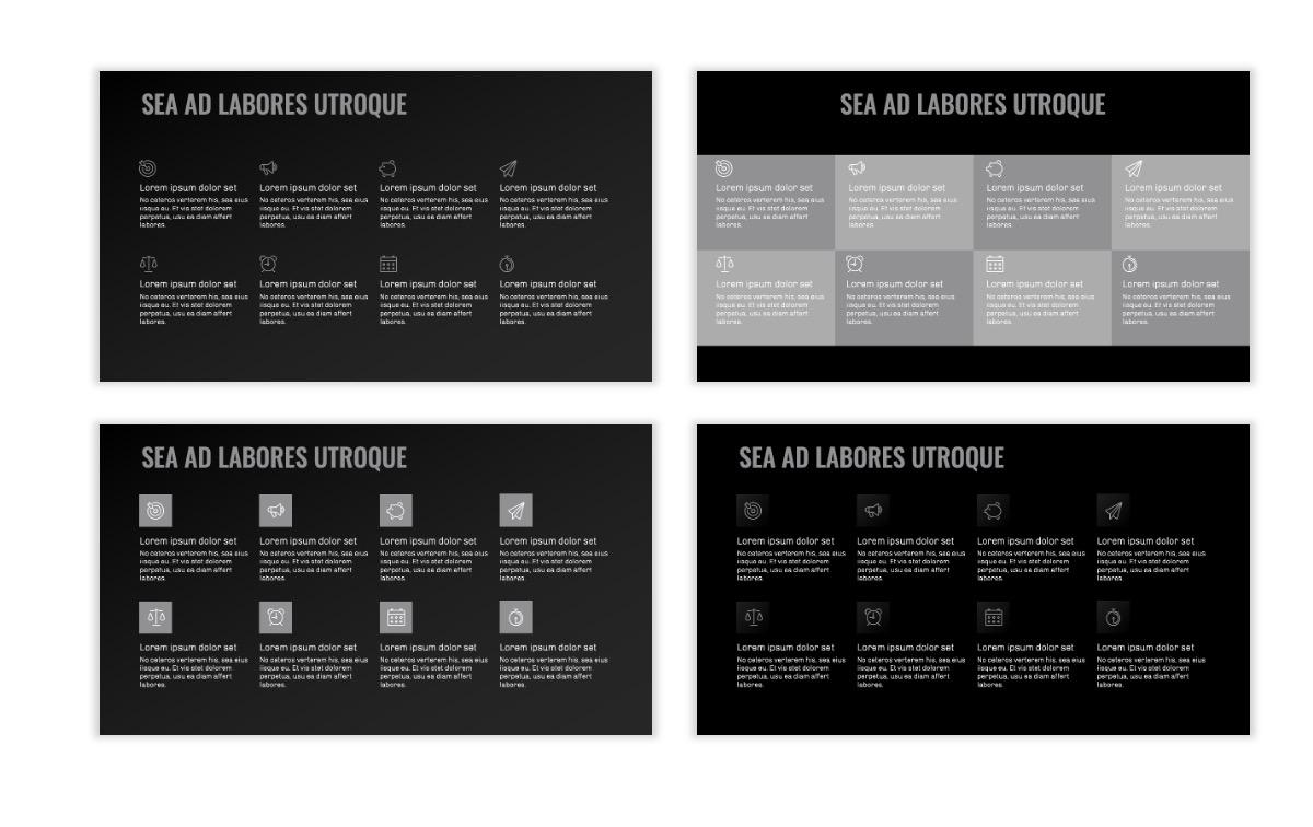 OSLO - Minimal - Dark Silver - Business - Professional - Aesthetic - Clean - Minimal Slide18