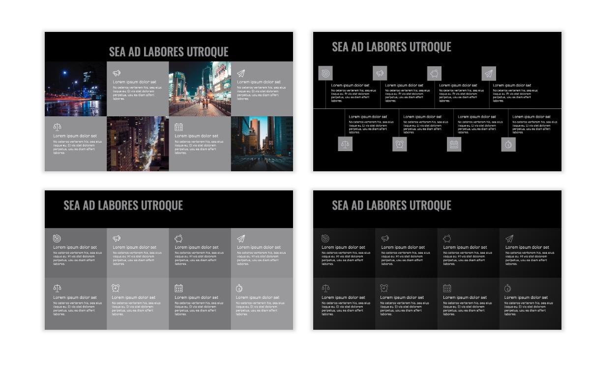 OSLO - Minimal - Dark Silver - Business - Professional - Aesthetic - Clean - Minimal Slide19