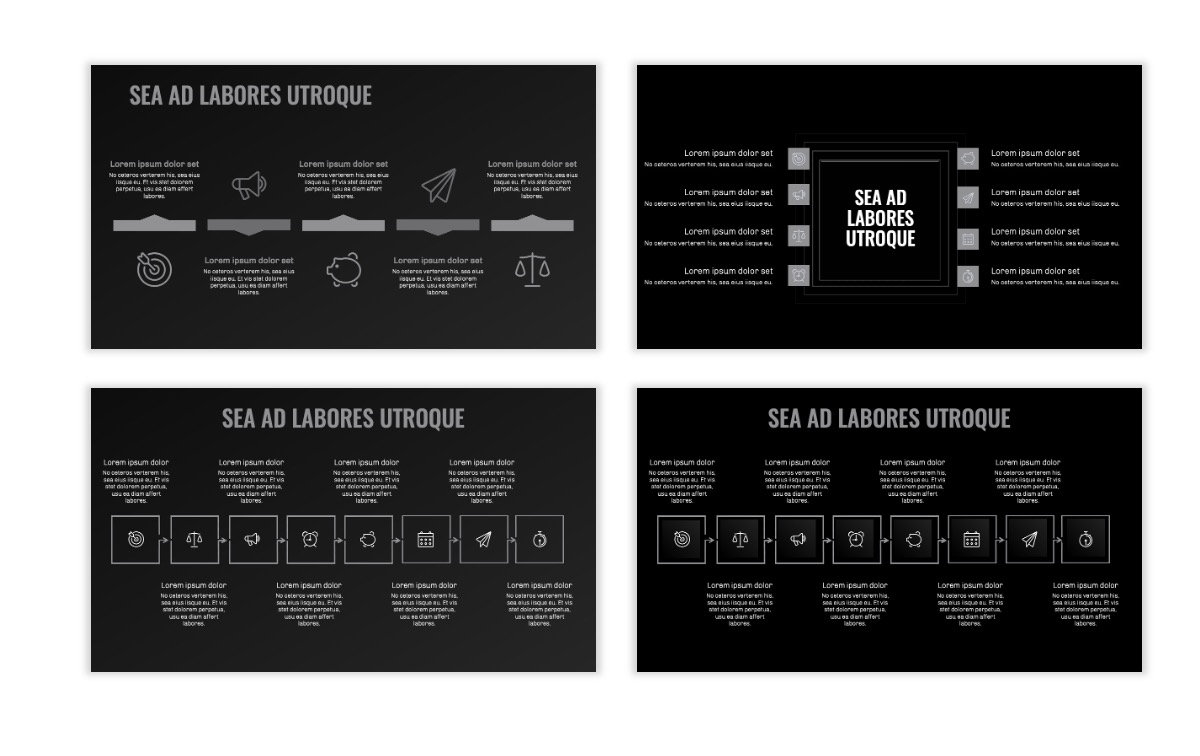 OSLO - Minimal - Dark Silver - Business - Professional - Aesthetic - Clean - Minimal Slide20