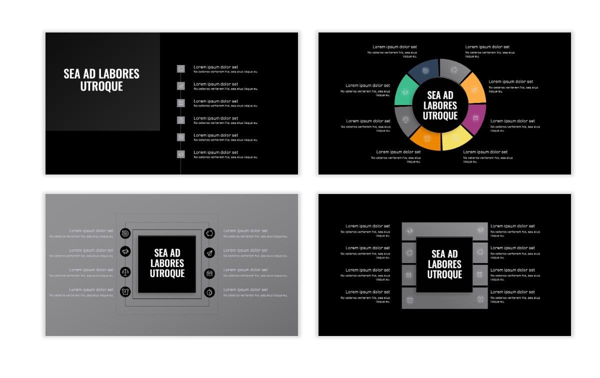 OSLO - Minimal - Dark Silver - Business - Professional - Aesthetic - Clean - Minimal Slide21