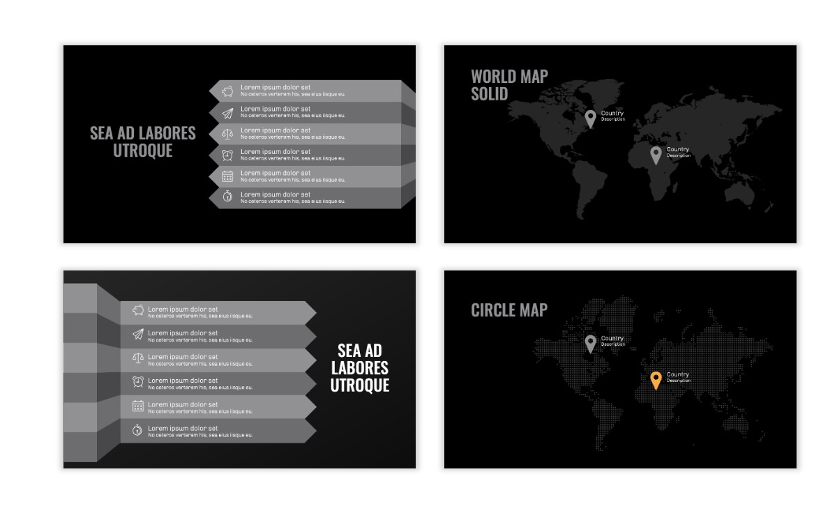 OSLO - Minimal - Dark Silver - Business - Professional - Aesthetic - Clean - Minimal Slide23