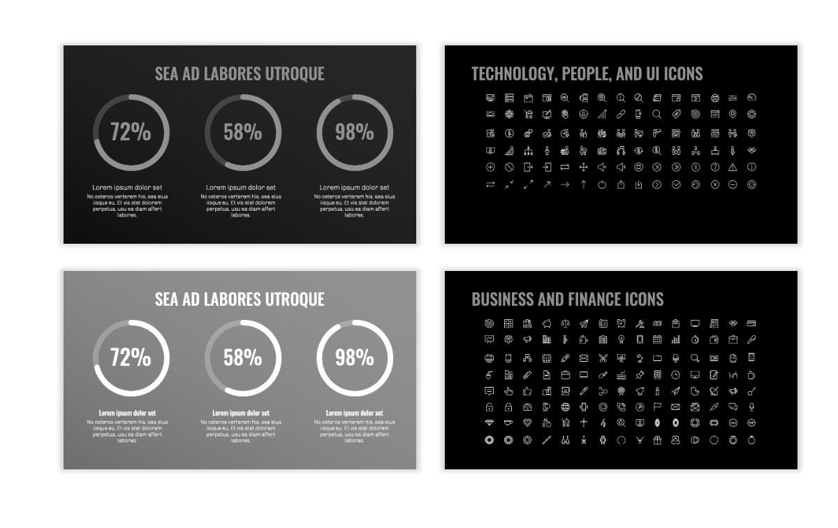 OSLO - Minimal - Dark Silver - Business - Professional - Aesthetic - Clean - Minimal Slide26