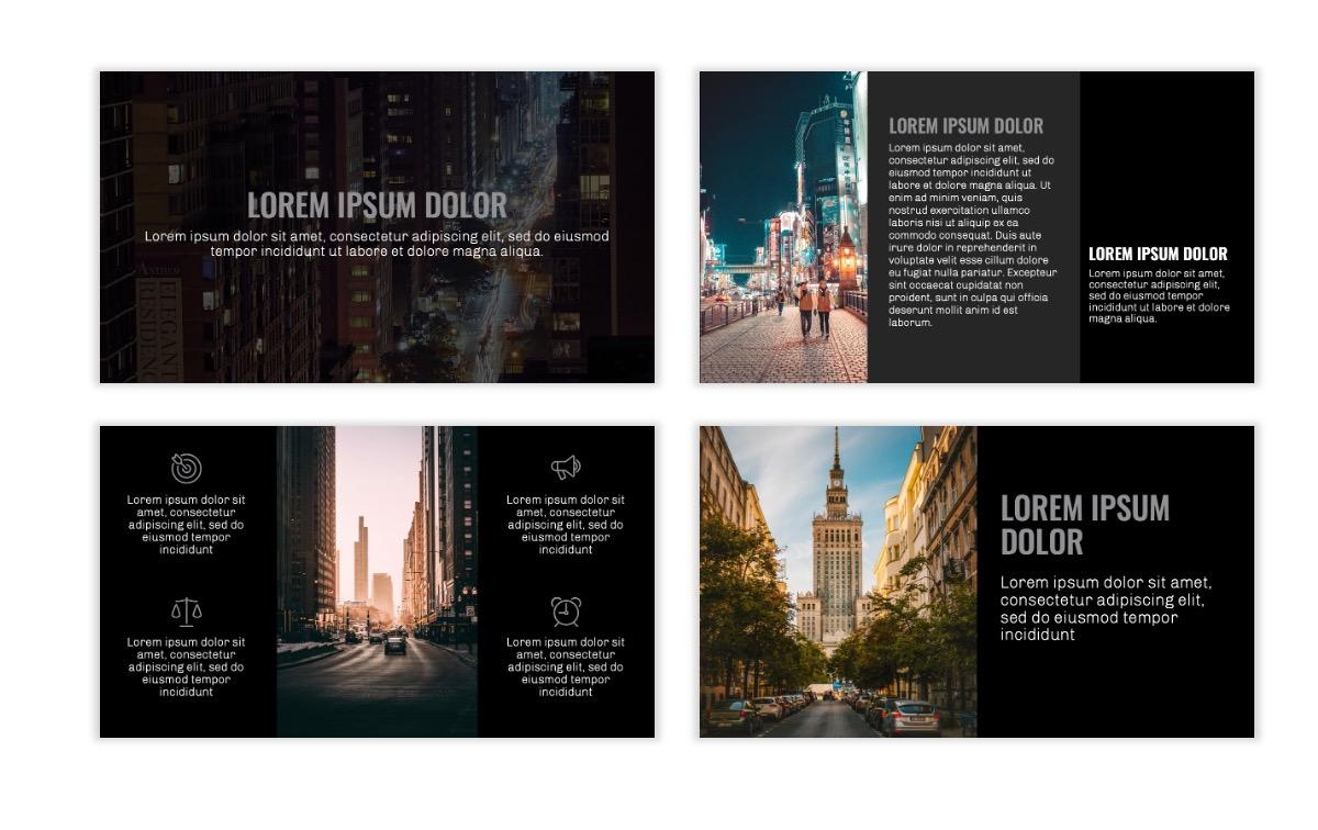 OSLO - Minimal - Dark Silver - Business - Professional - Aesthetic - Clean - Minimal Slide3