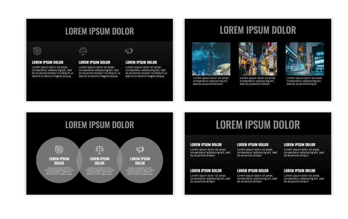 OSLO - Minimal - Dark Silver - Business - Professional - Aesthetic - Clean - Minimal Slide4