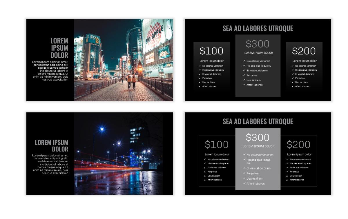 OSLO - Minimal - Dark Silver - Business - Professional - Aesthetic - Clean - Minimal Slide8