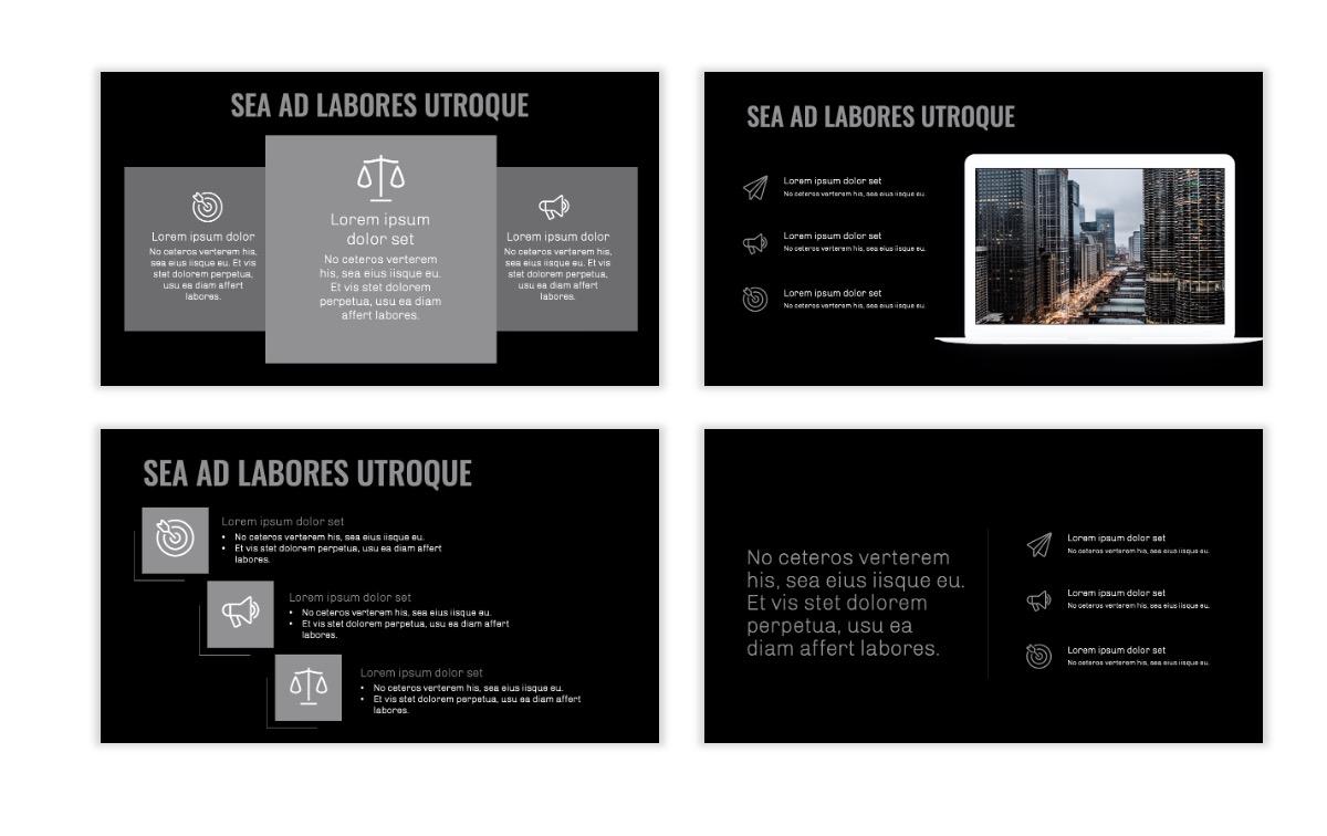 OSLO - Minimal - Dark Silver - Business - Professional - Aesthetic - Clean - Minimal Slide9