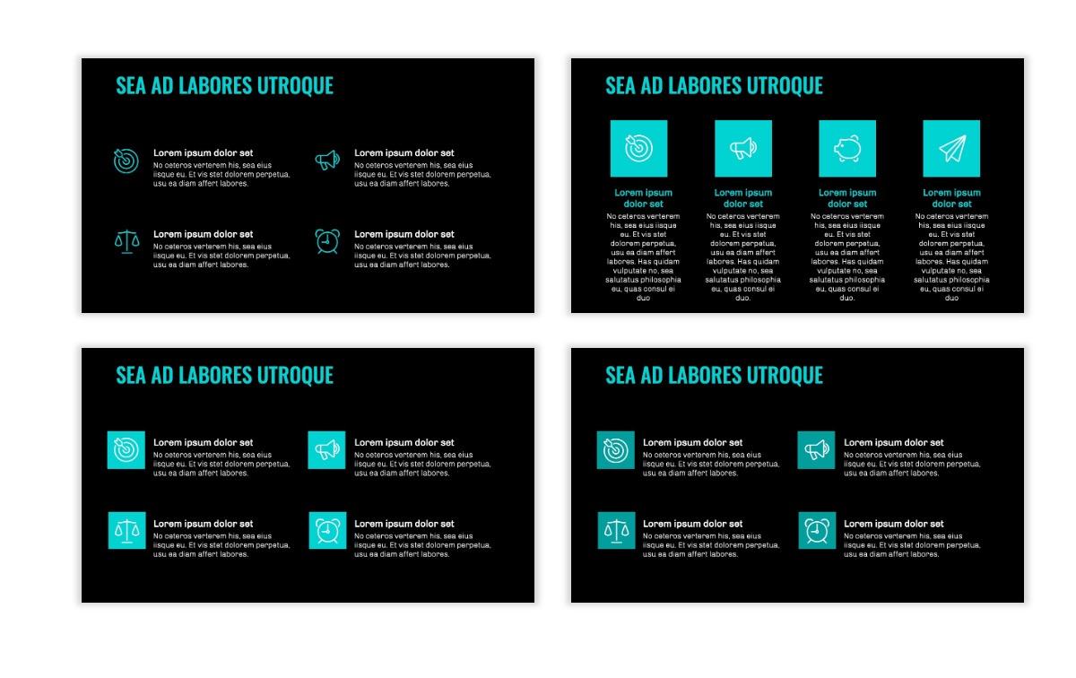 OSLO - Minimal - Dark Teal - Business - Professional - Aesthetic - Clean - Minimal Slide11