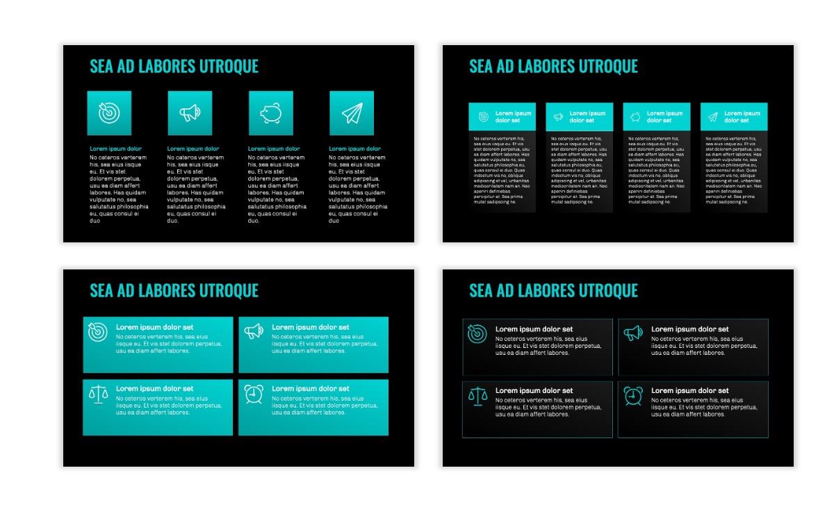 OSLO - Minimal - Dark Teal - Business - Professional - Aesthetic - Clean - Minimal Slide12