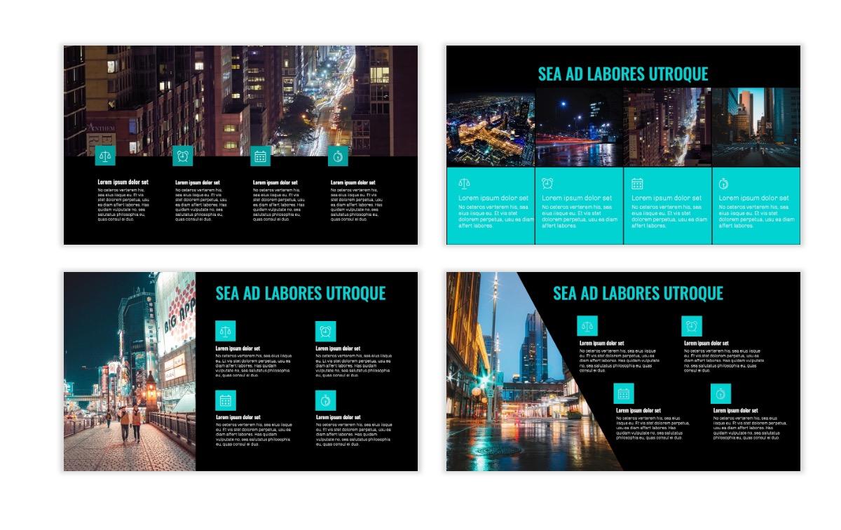 OSLO - Minimal - Dark Teal - Business - Professional - Aesthetic - Clean - Minimal Slide14