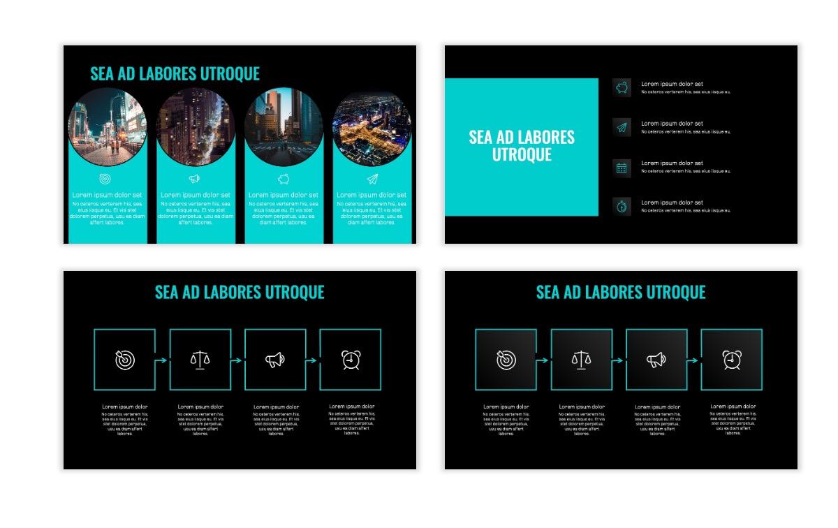 OSLO - Minimal - Dark Teal - Business - Professional - Aesthetic - Clean - Minimal Slide15