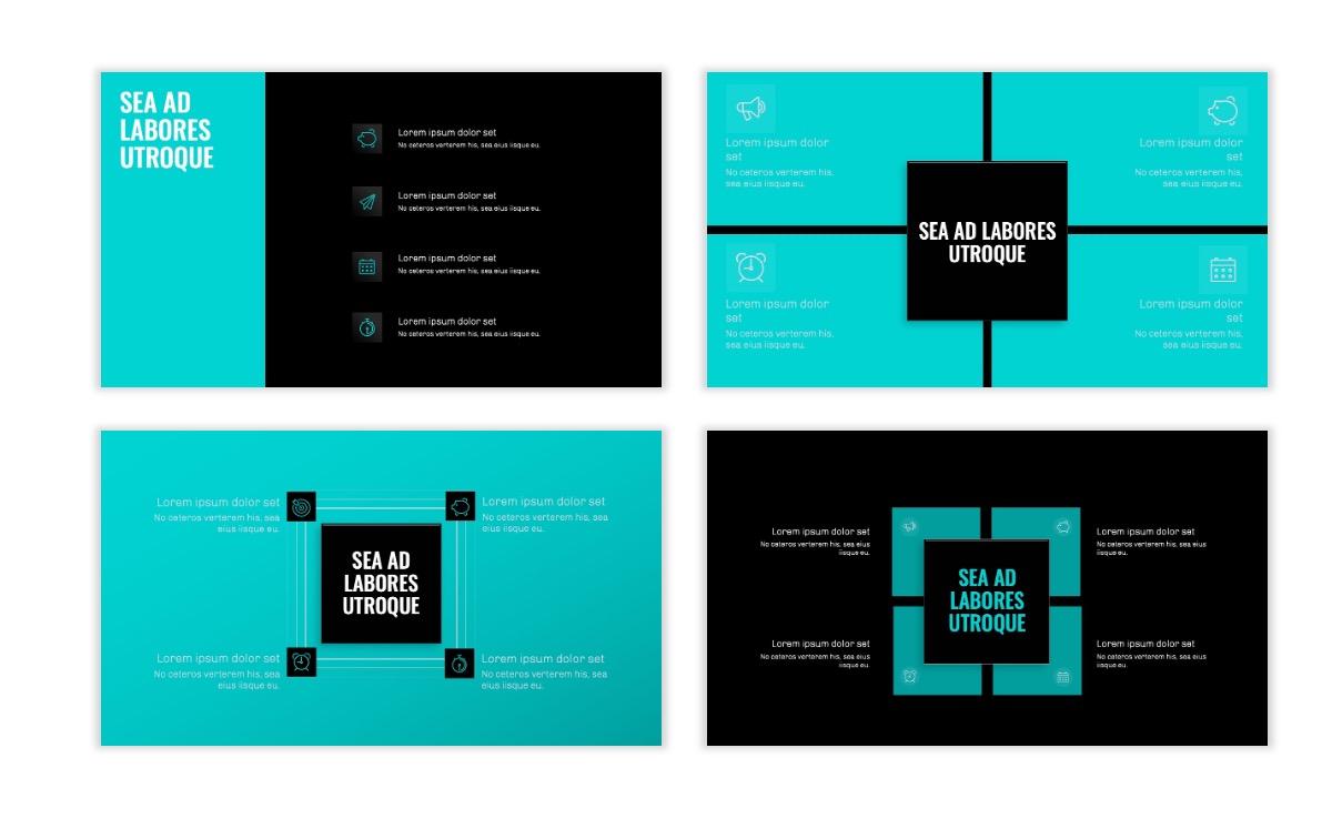 OSLO - Minimal - Dark Teal - Business - Professional - Aesthetic - Clean - Minimal Slide16