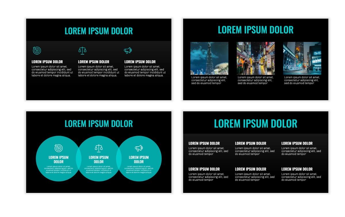 OSLO - Minimal - Dark Teal - Business - Professional - Aesthetic - Clean - Minimal Slide4