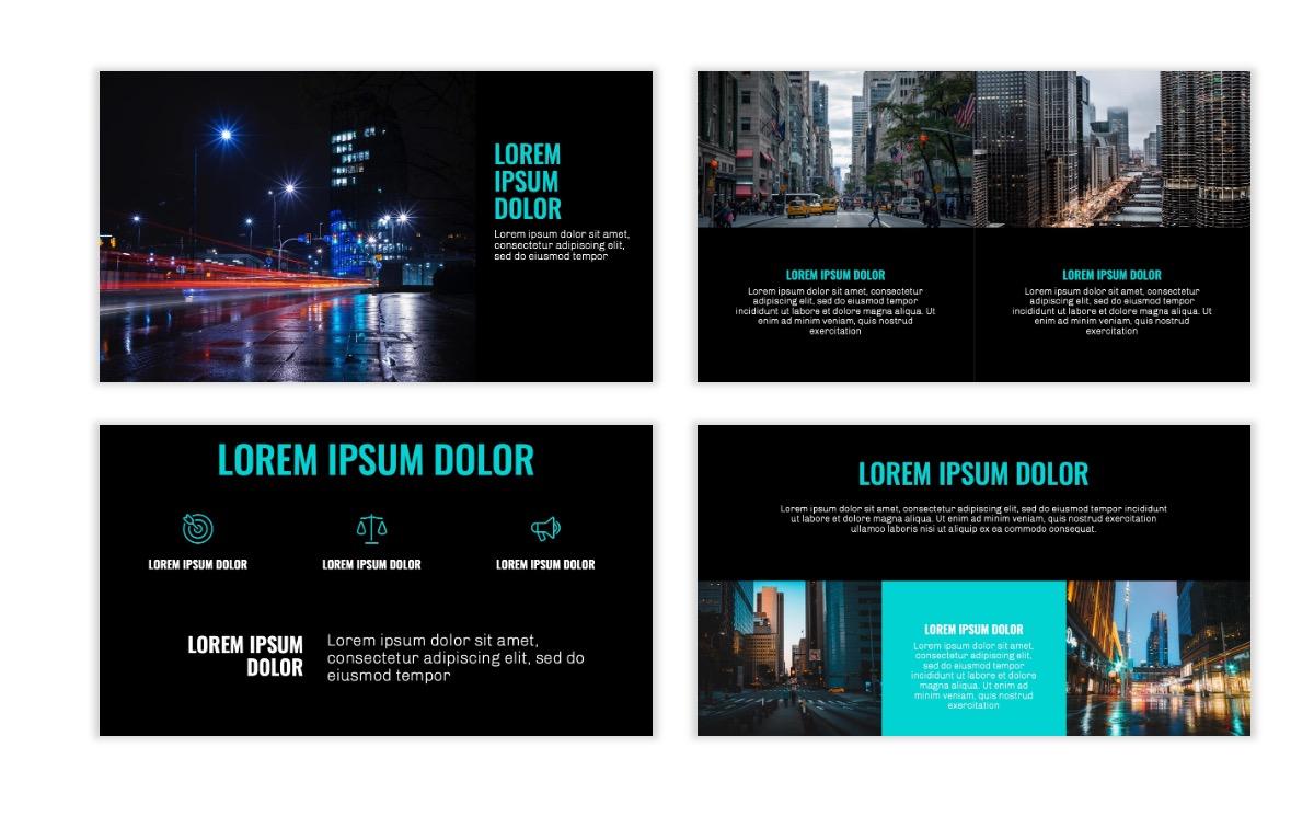 OSLO - Minimal - Dark Teal - Business - Professional - Aesthetic - Clean - Minimal Slide6