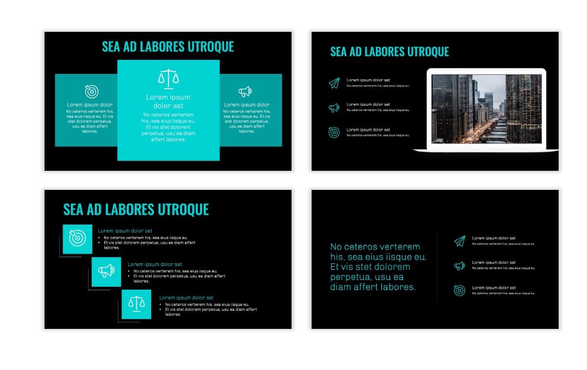 OSLO - Minimal - Dark Teal - Business - Professional - Aesthetic - Clean - Minimal Slide9