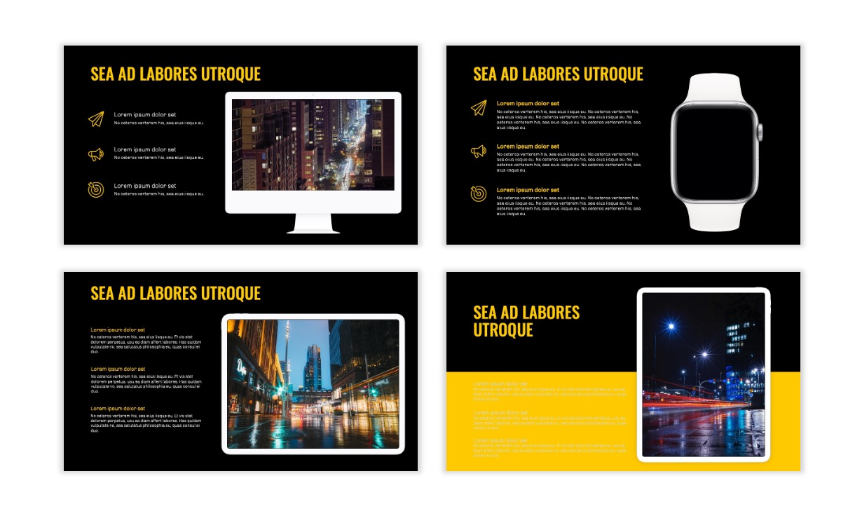 OSLO - Minimal - Dark Yellow - Business - Professional - Aesthetic - Clean - Minimal Slide10