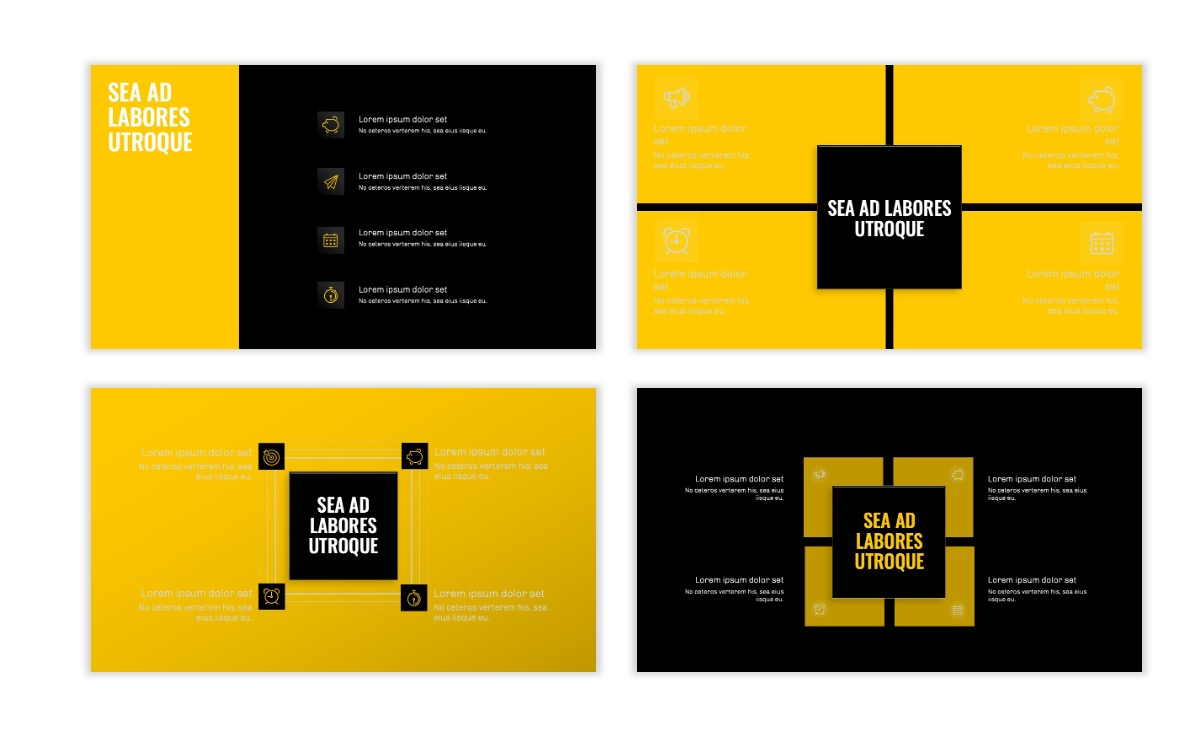 OSLO - Minimal - Dark Yellow - Business - Professional - Aesthetic - Clean - Minimal Slide16