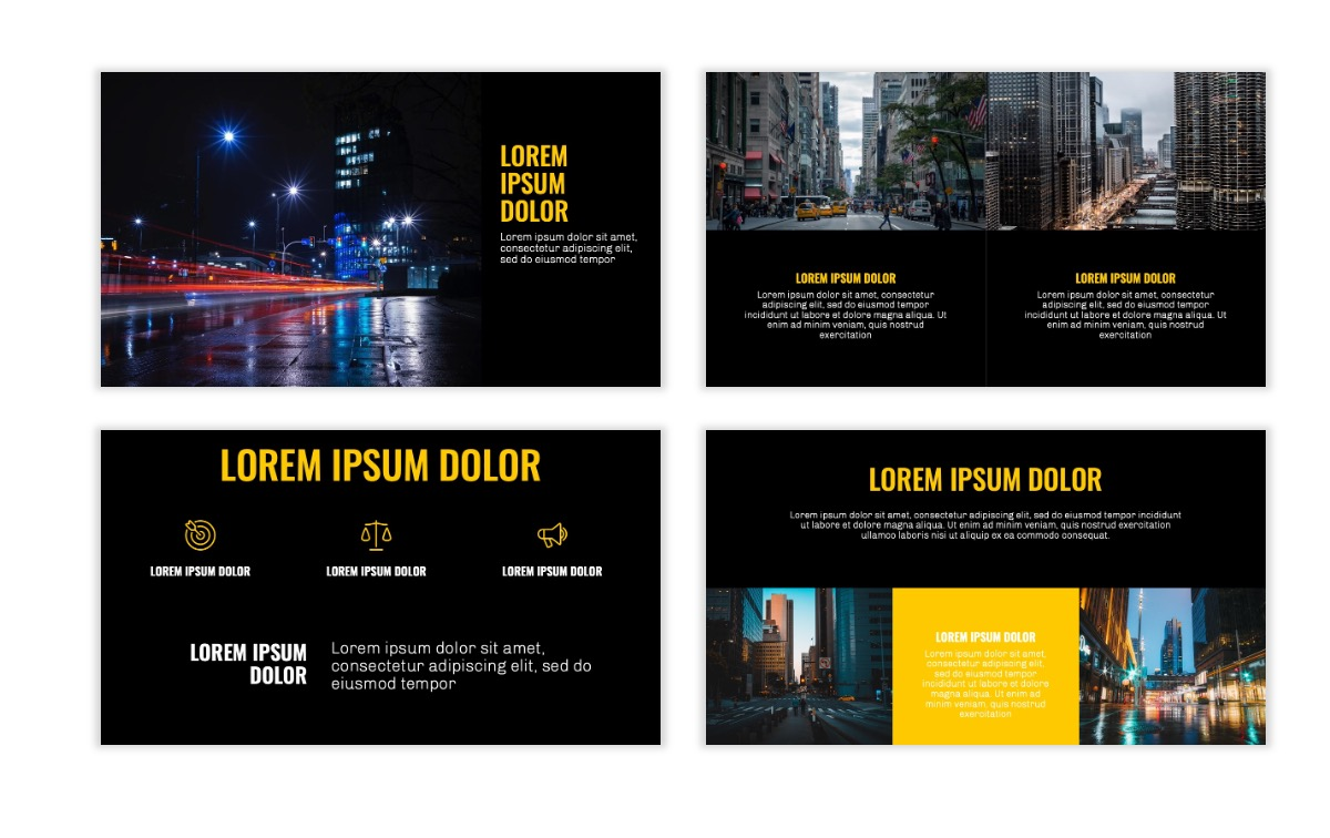OSLO - Minimal - Dark Yellow - Business - Professional - Aesthetic - Clean - Minimal Slide6