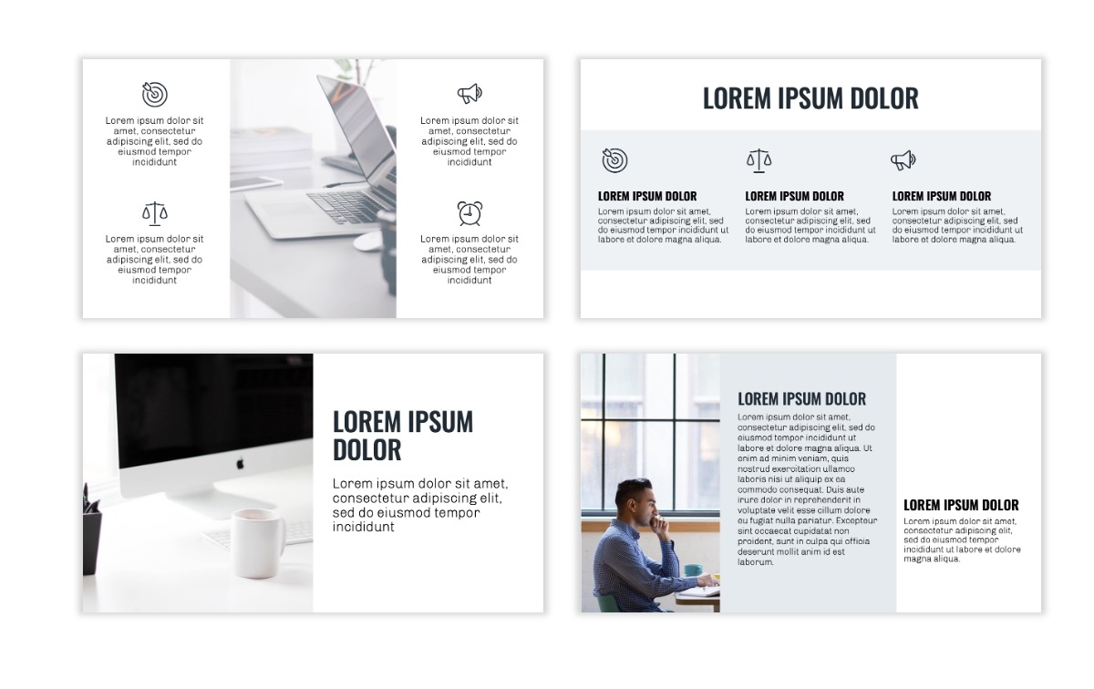 OSLO - Minimal - Gray - Business - Professional - Aesthetic - Clean - Minimal Slide3