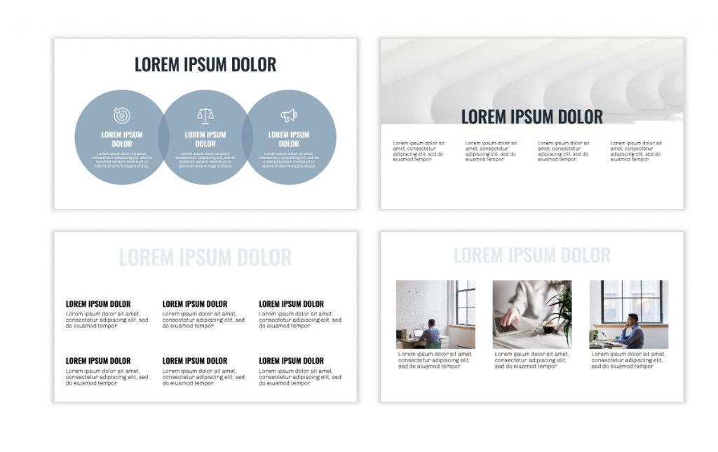 OSLO PROFESSIONAL BLUE GRAY FREE POWERPOINT TEMPLATE