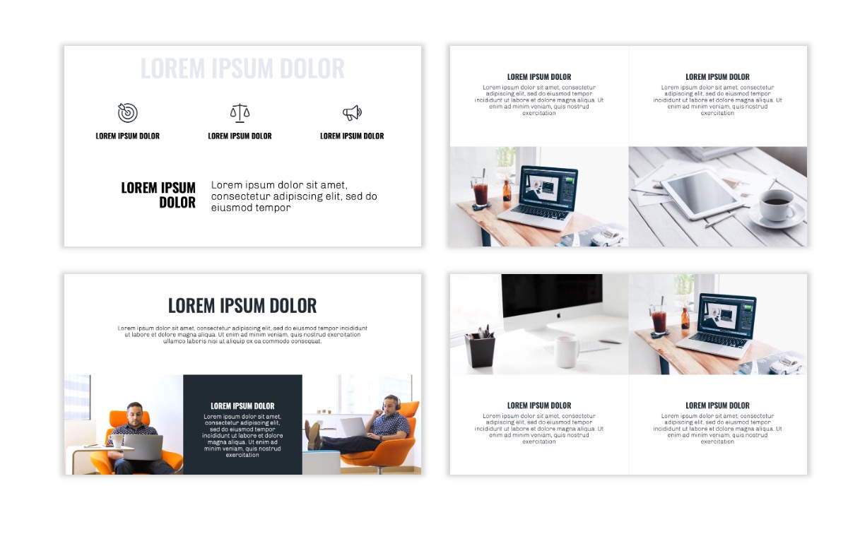 OSLO - Minimal - Gray - Business - Professional - Aesthetic - Clean - Minimal Slide6