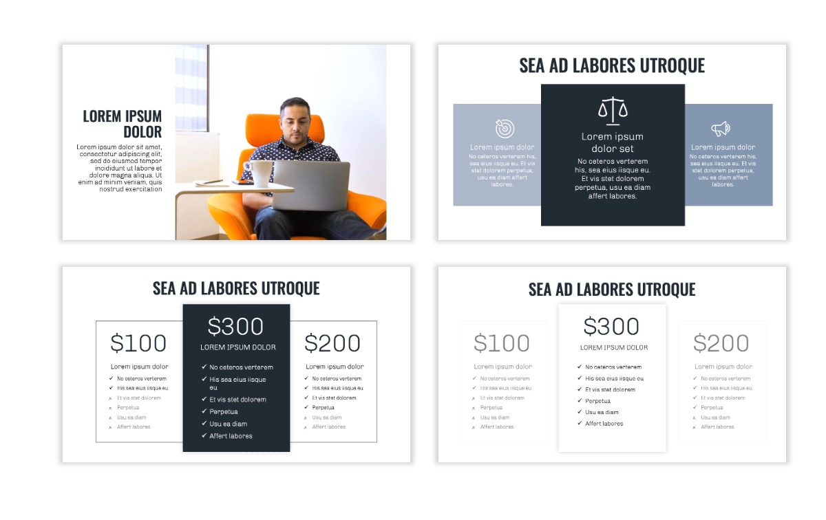 OSLO - Minimal - Gray - Business - Professional - Aesthetic - Clean - Minimal Slide8