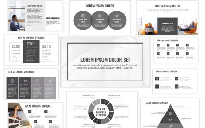 OSLO PROFESSIONAL GRAY MONOCHROME FREE POWERPOINT TEMPLATE