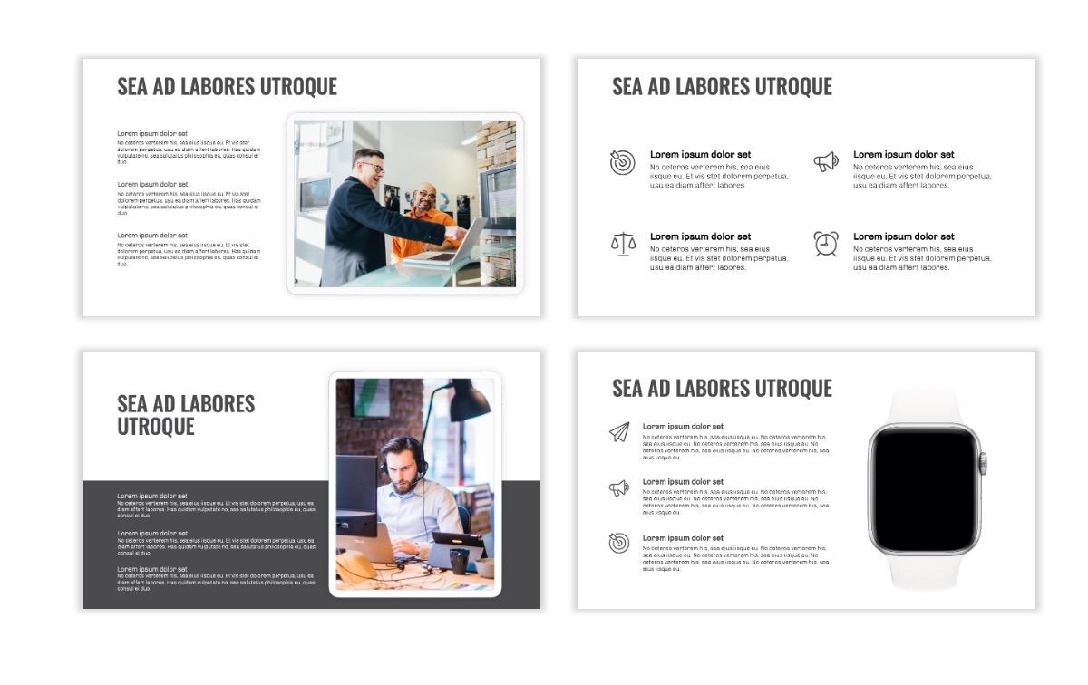 OSLO - Minimal - Gray Mono - Business - Professional - Aesthetic - Clean - Minimal Slide10