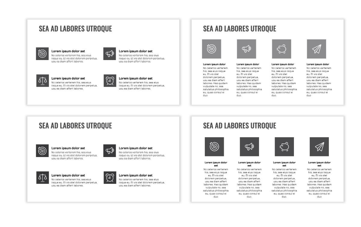 OSLO - Minimal - Gray Mono - Business - Professional - Aesthetic - Clean - Minimal Slide11