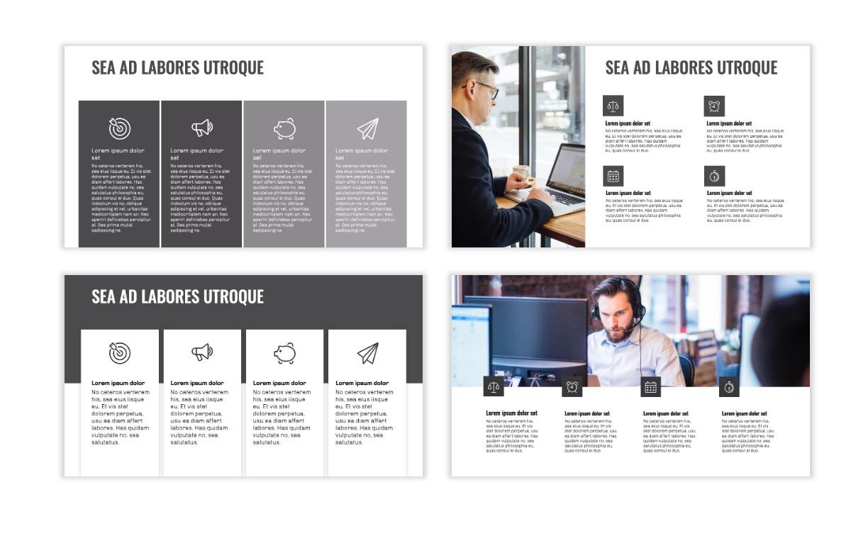 OSLO - Minimal - Gray Mono - Business - Professional - Aesthetic - Clean - Minimal Slide13