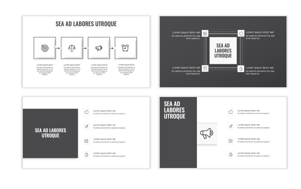 OSLO - Minimal - Gray Mono - Business - Professional - Aesthetic - Clean - Minimal Slide15