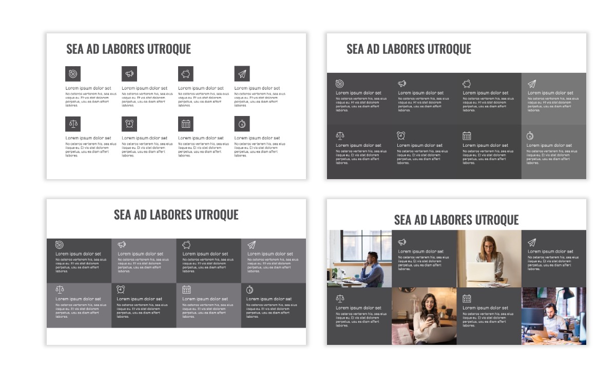OSLO - Minimal - Gray Mono - Business - Professional - Aesthetic - Clean - Minimal Slide18