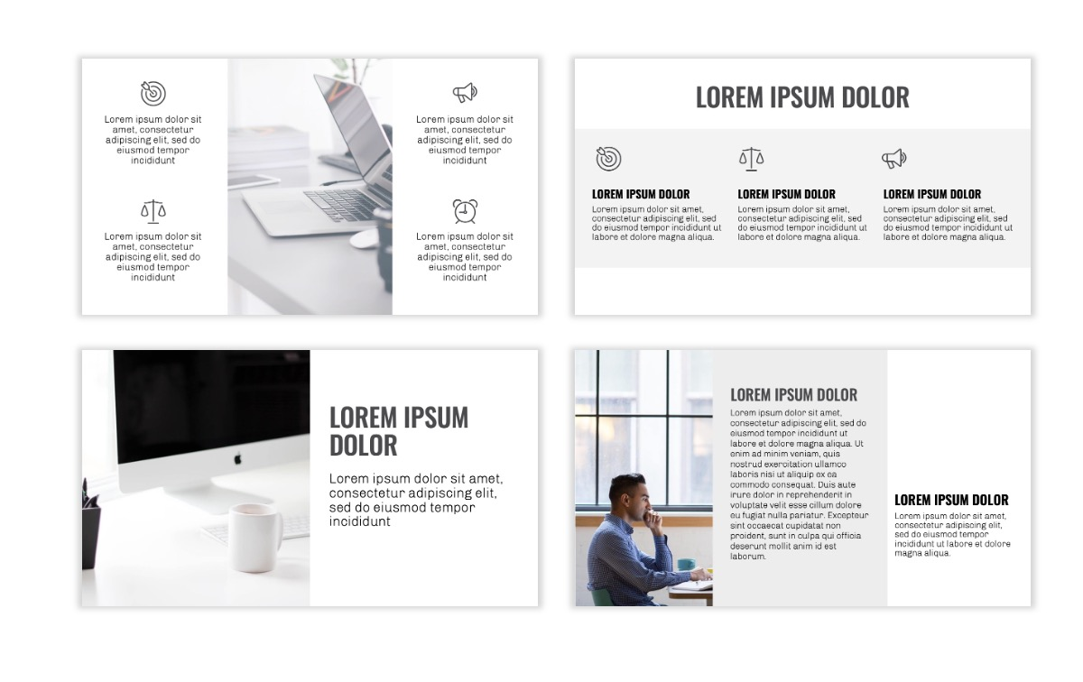 OSLO - Minimal - Gray Mono - Business - Professional - Aesthetic - Clean - Minimal Slide3