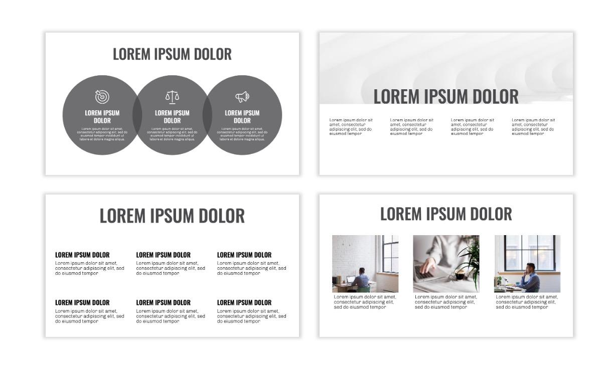 OSLO - Minimal - Gray Mono - Business - Professional - Aesthetic - Clean - Minimal Slide4