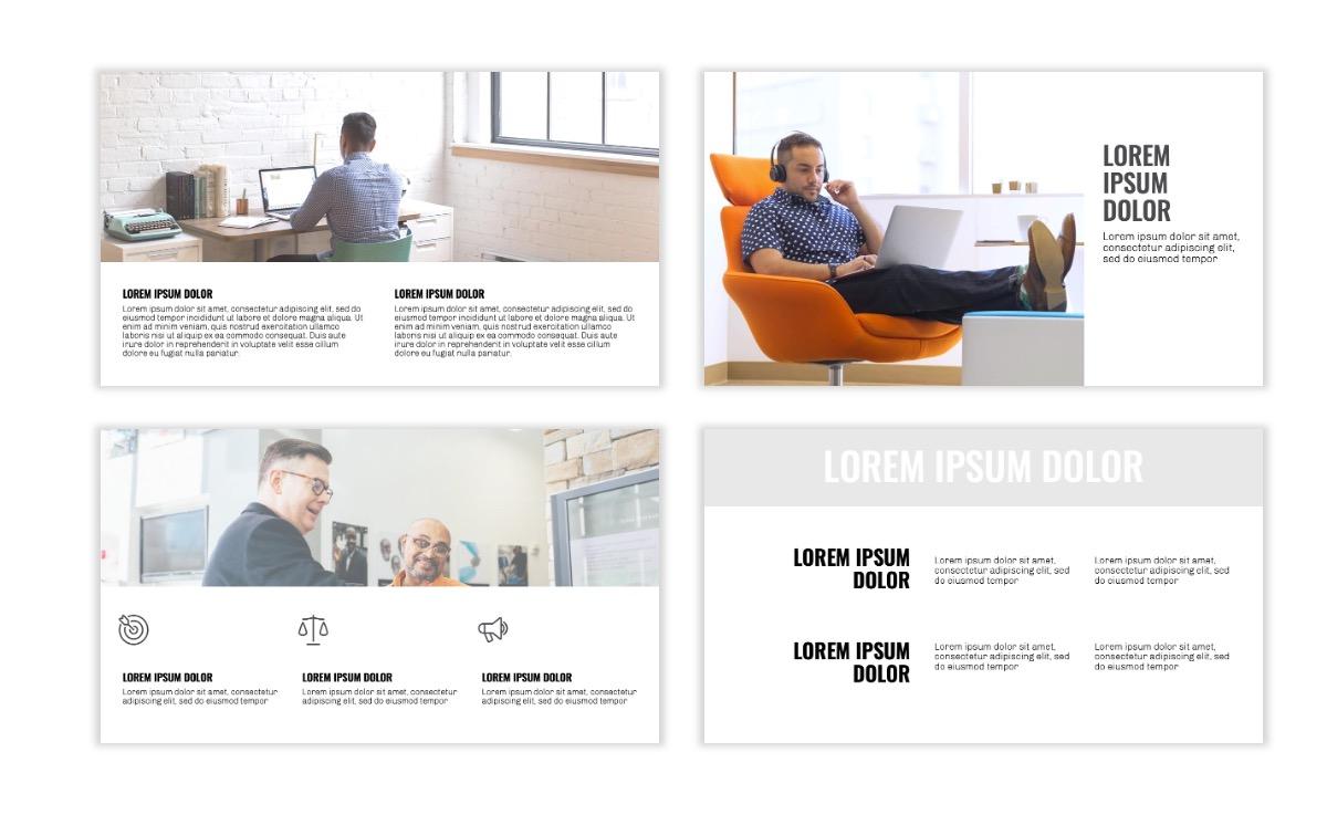OSLO - Minimal - Gray Mono - Business - Professional - Aesthetic - Clean - Minimal Slide5