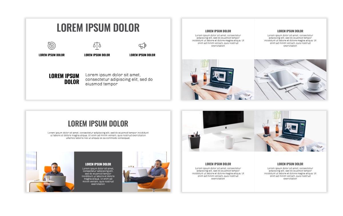 OSLO - Minimal - Gray Mono - Business - Professional - Aesthetic - Clean - Minimal Slide6