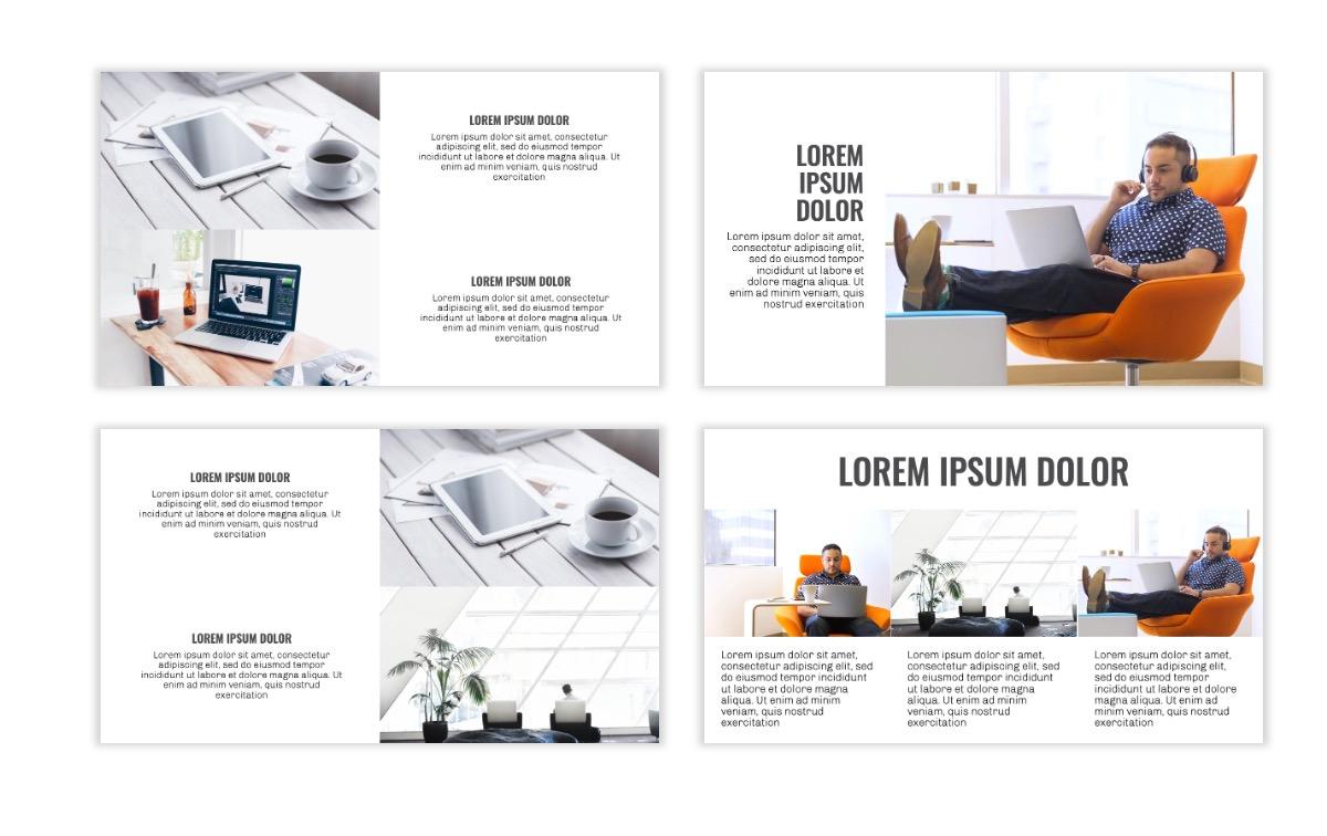 OSLO - Minimal - Gray Mono - Business - Professional - Aesthetic - Clean - Minimal Slide7
