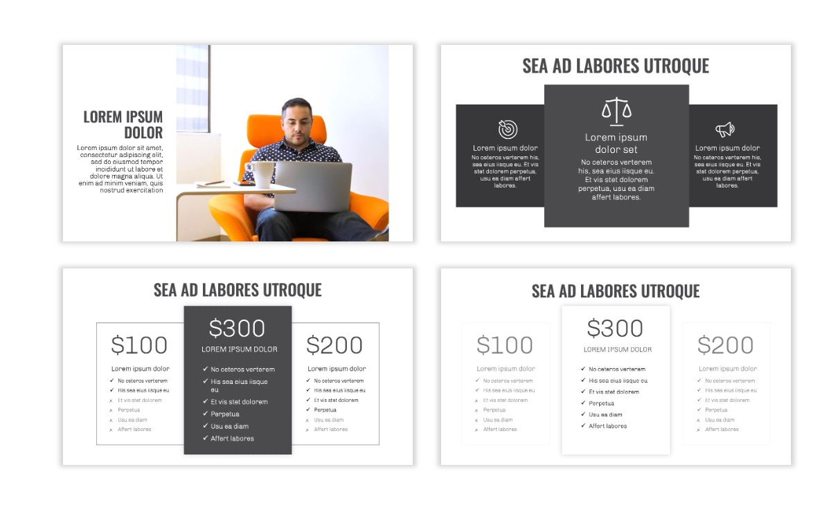 OSLO - Minimal - Gray Mono - Business - Professional - Aesthetic - Clean - Minimal Slide8