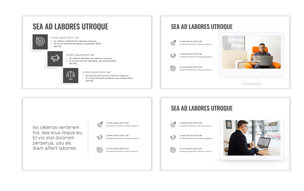 OSLO - Minimal - Gray Mono - Business - Professional - Aesthetic - Clean - Minimal Slide9