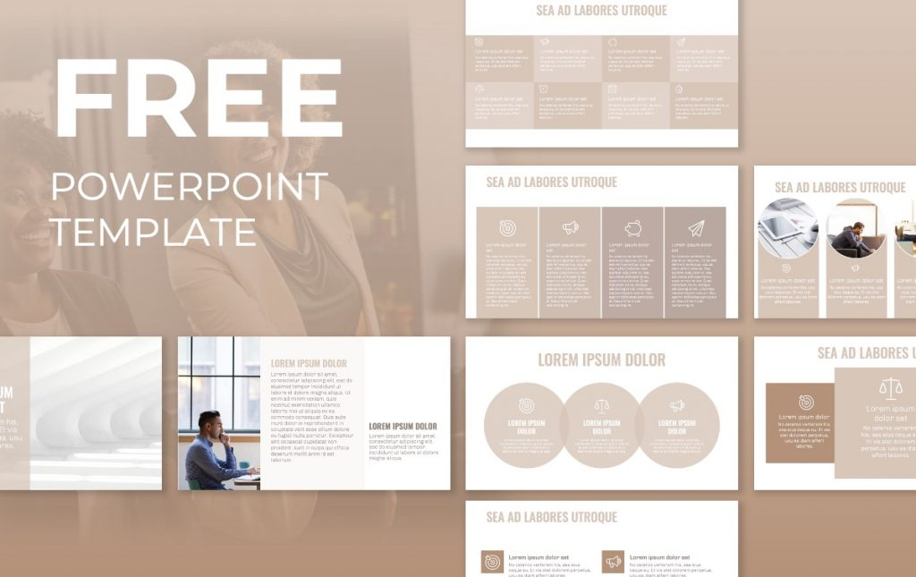 OSLO PROFESSIONAL NEUTRAL BEIGE FREE POWERPOINT TEMPLATE